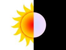 Dag en nacht vector illustratie