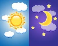 Dag en Nacht Royalty-vrije Stock Afbeeldingen