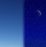 Dag en nacht stock foto