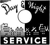 Dag en nacht de Dienst Stock Foto's