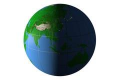 Dag en nacht op Aarde, Eurasia Stock Foto's