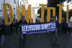 dag för berlusconi 5 09 12 ingen rome Royaltyfria Bilder