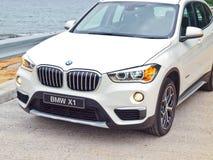 Dag för BMW X1 2016 provdrev Arkivbilder