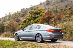 Dag för BMW 5-Series 2017 provdrev Arkivfoton
