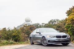 Dag för BMW 5-Series 2017 provdrev Royaltyfri Bild