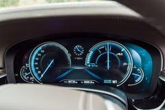 Dag för BMW 5-Series 2017 provdrev Arkivfoto