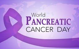 Dag för bukspottkörtel- cancer för värld stock illustrationer