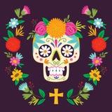 Dag för `-Diameter de los Muertos ` av den döda affischen Arkivfoton