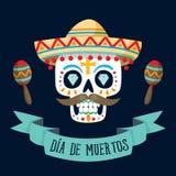 Dag för `-Diameter de los Muertos ` av det döda kortet Royaltyfria Foton