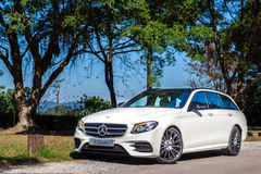 Dag för drev för prov för Mercedes-Benz E 200 gods 2017 Royaltyfria Bilder