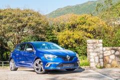 Dag för drev för prov för Renault GT sport 2017 Arkivfoto