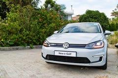 Dag för drev för Volkswagen e-golf 2017 prov Fotografering för Bildbyråer
