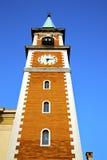 dag för gammalt abstrakt torn för olgiateolona solig Fotografering för Bildbyråer