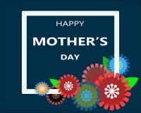 Dag för Happ moder` s i den vita ramen Royaltyfri Fotografi
