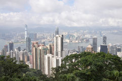 Dag för Hong Kong stadssikt Royaltyfri Foto