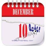 Dag för kalendervärldsfotboll royaltyfri illustrationer