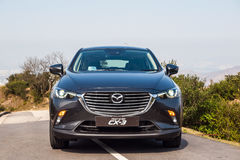 Dag för Mazda CX-3 2017 provdrev Arkivbilder