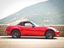 Dag för Mazda MX-5 2015 provdrev Arkivbilder