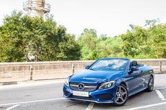 Dag för Mercedes-Benz C 200 Cabrioletdrev Arkivfoton