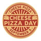 Dag för ostpizza vektor illustrationer