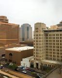 Dag för regnig vinter i i stadens centrum Phoenix, AZ Arkivbild