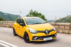 Dag för Renault CLIO RS 2017 provdrev Fotografering för Bildbyråer