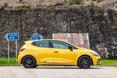 Dag för Renault CLIO RS 2017 provdrev Arkivbild