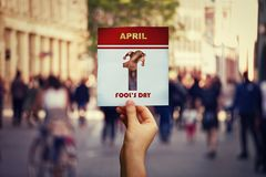 1 dag för ` s för april dumbom royaltyfri fotografi