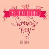 Dag för ` s för kvinnor för vektorillustration internationell Arkivfoto
