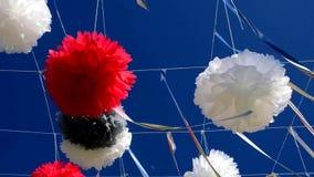 Dag för sommar för invallningar för gatagarneringferie solig lager videofilmer