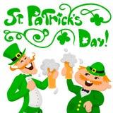 Dag för St Patrick ` s Två lyckliga engelsmän Arkivfoto
