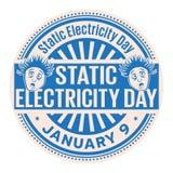 Dag för statisk elektricitet, Januari 9 stock illustrationer
