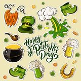 Dag för StPatrick ` s royaltyfri illustrationer