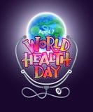 Dag för världshälsa stock illustrationer