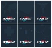 Dag för världshälsa 7 April Medicinskt baner också vektor för coreldrawillustration vektor illustrationer
