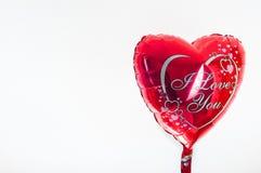 Dag för valentin` s, födelsedag, förälskelsebegrepp hjärta formad balloo Royaltyfri Bild