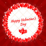 Dag för valentin s för hälsningkort lycklig, hjärtor, arkivbilder