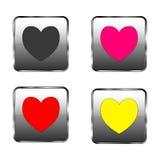 Dag för valentin` s - hjärtaknapp Arkivbilder