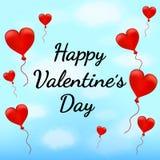 Dag för valentin` s, vektorillustration Arkivfoto