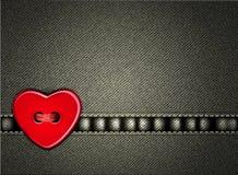 Dag för valentiner för vektorjeansbakgrund royaltyfri illustrationer