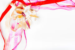 Dag för Valetine ` s, dag för moder` s, födelsedagbegrepp - färgrikt band Royaltyfri Bild