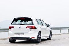 Dag för Volkswagen Golf ClubSport 2016 provdrev Royaltyfria Bilder