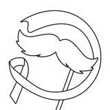 Dag f?r Movember prostatacancer vektor illustrationer