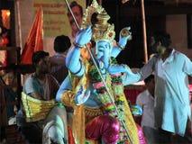 11 dag Ganesh festival i Indien Arkivfoto