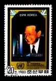 Dag Hammarskjoeld (1905-1961), 75th aniversário do aniversário, segundo do UN Imagem de Stock Royalty Free