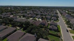 Dag het Toenemen Antenne van San Antonio Texas Neighborhood stock video