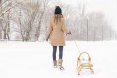 Dag i snön Fotografering för Bildbyråer