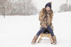 Dag i snön Arkivbilder
