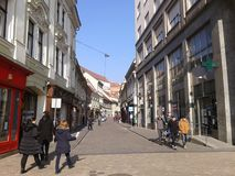 Dag i stad-Zagreb Europa Fotografering för Bildbyråer