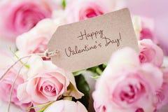 Dag III van de gelukkige valentijnskaart Stock Foto